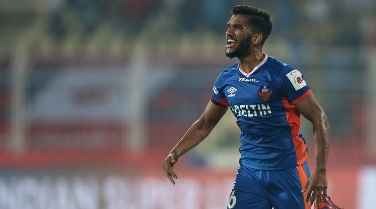 Dom Sahil Tavora of FC Goa scores a goal during match 53 of the Indian Super League (ISL) season 3 between FC Goa and Chennaiyin FC held at the Fatorda Stadium in Goa, India on the 1st December 2016. Photo by Luke Walker / ISL / SPORTZPICS