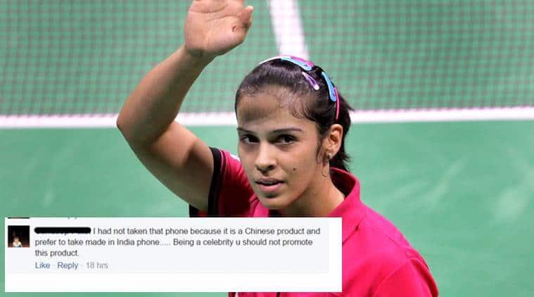 Saina Nehwal is being called 'unpatriotic' on Facebook