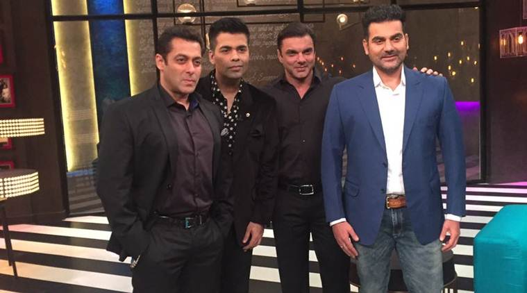 Salman Khan, Koffee with Karan, Koffee with Karan season 5, Koffee with Karan Salman, Koffee with Karan sets salman karan, Koffee with Karan salman Khan, Koffee with Karan 100th episode, Karan johar, Sohail Khan, arbaaz khan