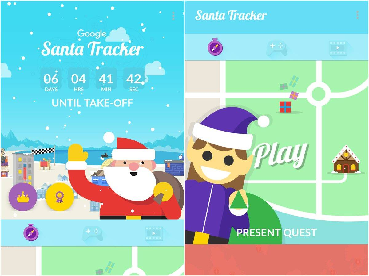 Christmas 2021 Santa Tracker Google Rolls Out Its First Official Santa Tracker App Technology News The Indian Express