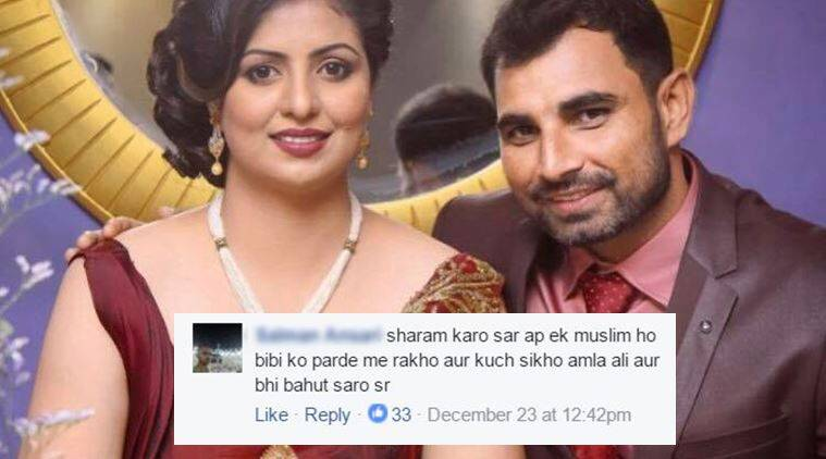 mohammed shami, mohammed shami facebook post, mohammed shami facebook post news, mohammed shami wife dress, mohammed shami Facebook, mohammed shami Twitter, indian express, indian express news, trending, trending in india,