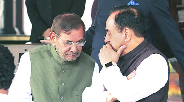 rajya Sabha, sharad Yadav, arun jaitely, JD (U) leader Sharad Yadav, Finance Minister Arun Jaitley, adjournment motion, demonetisation debate, india news, indian express news