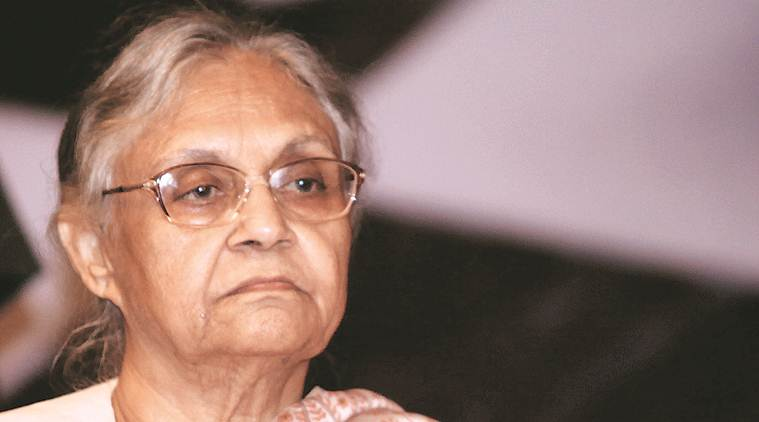 Sheila Dikshit, AAP. AAP government slams Sheila Dikshit, Sheila Dikshit supports bureaucrats, Saurabh Bharadwaj, delhi news, indian express news