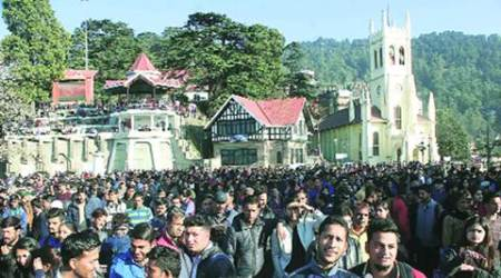 New Year eve rush in Shimla: Driven by snow charm, tourists make a beeline