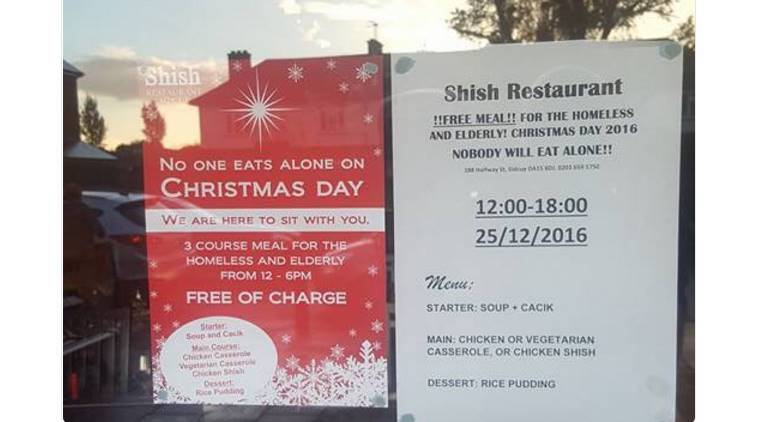 muslim restaurant free christmas meal, UK muslim restaurant free meal, free christmas meal for homeless, free christmas meal for elderly, indian express, indian express news