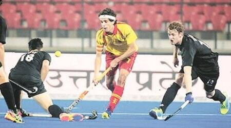 India vs Spain, hockey, India vs Spain hockey, junior hockey world cup, lucknow hockey event, Enrique Gonzalez, indian express sports, sports, hockey