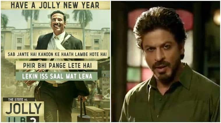 akshay kumar drink and drive, shah rukh khan drink and drive warning, akshay new year wish, shah rukh new year wish, srk new year wish, shahrukh tweet for fans, akshay twitter, akshay social message, srk social message, shahrukh raees promotions, akshay jolly llb 2 promotions, akshay kumar jolly llb 2, movie promotions, jolly llb 2, raees, akshay kumar news, shahrukh khan news, srk, bollywood news, bollywood updates, entertainment news, indian express news, indian express