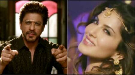 raees sunny leone, sunny leone shah rukh khan, sunny srk, sunny leone srk twitter, sunny leone raees twitter, twitter messages sunny srk, raees trailer, raees news, indian express, indian express news