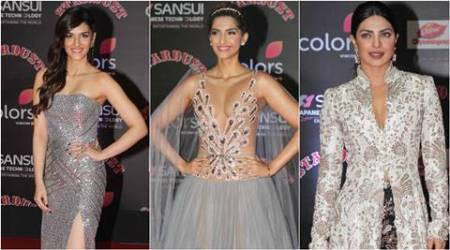 Stardust Awards 2016, Stardust Awards 2016 red carpet, Sonam Kapoor, Priyanka Chopra, Kriti Sanon, Jacqueline Fernandes, Saiyami Kher, Aishwarya Rai Bachchan, Pooja Hegde, Sridevi, Daisy Shah, Disha Patani, Kajol, Richa Chadda, Anushka Sharma, Elli Avram, bollywood fashion, bollywood style, celeb fashion, indian express, indian express news