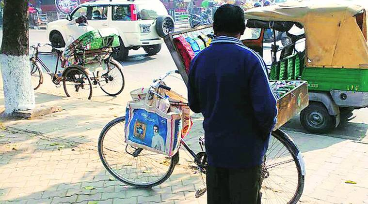 Chandigarh vendors, Chandigarh liquor stores, PEC University of Technology, chandigarh street vendors, survey on street vendor, COPTA (Cigarettes and Other Tobacco Products) Act, indian express news