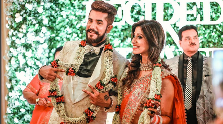 Kishwer Merchant reception, Suyyash Rai reception, kishwer suyyash reception, kishwer wedding, kishwer suyyash marriage, suyyash marriage, suyyash baraat, suyaash dance, kishwer dance, ex-bigg boss contestants, suyyash kishwar wedding ceremony, kishwar reception, kishwar brahmarakshas, suyyash singer, sukish ki shaadi, television weddings, television news, television updates, entertainment news, indian express news, indian express