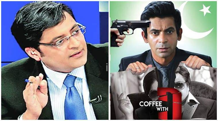 Sunil Grover, Sunil Grover Arnab Goswami, Sunil Grover Coffee with D, sunil grover role Coffee with D, zakir hussain, Vishal Mishra, the kapil sharma show, Coffee with D, Coffee with D star cast, bollywood news, bollywood updates, television news, television updates, entertainment news, indian express news, indian express
