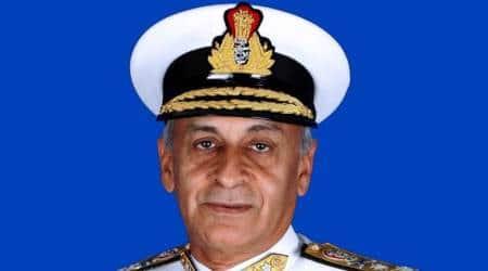 sunil lanba, navy chief, gwadar port, china news, india news, latest news, indian express