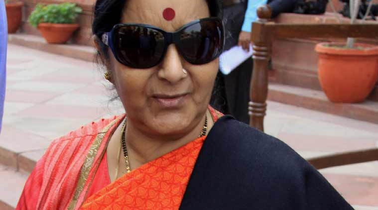 sushma swaraj, gujarat businessman, us ambassador, arrest of gujarat businessman, us news, india news, indian express