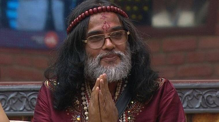 bigg boss 10 swami om, swami om pees in kitchen, swami om crosses limits, swami om luxuryu budget task, swami om manveer, swami om antics, swami om urinates in kitchen, bigg boss 10 news, bigg boss 10 updates, television news, television updates, entertainment news, indian express news, indian express