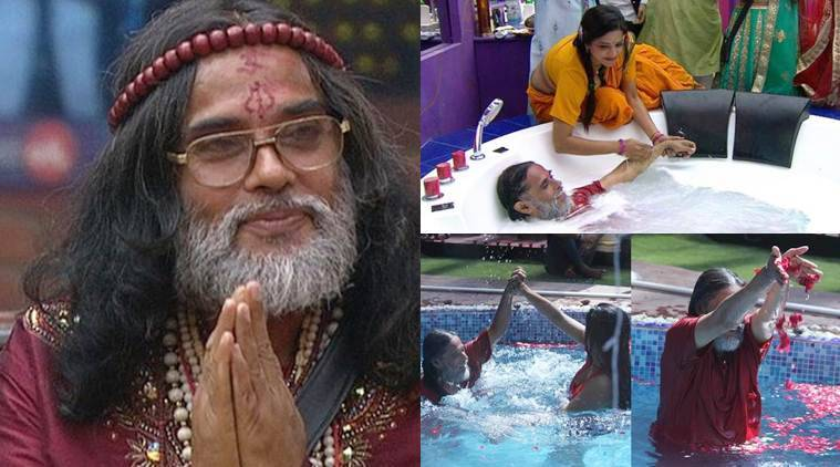 Bigg Boss 10, swami om, swami om disgusting comments, swami om comments, swami om moments in bigg boss, swami om fights bigg boss, bigg boss 10 worst contestant, bigg boss worst contestants, swami bani fight, swami rohan fight, salman khan on swami om, salman khan bashed swami om, Bigg Boss 10, Bigg Boss 10 news, Bigg Boss 10 updates, television news, television updates, entertainment news, indian express news, indian express