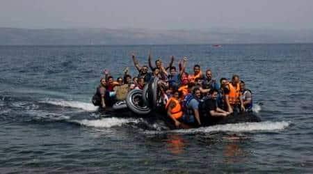 migrants, turkey's coast, turkish coast, migrant boat, migrant boat drowns, migrants drowned, migrant deaths, world news, indian express news