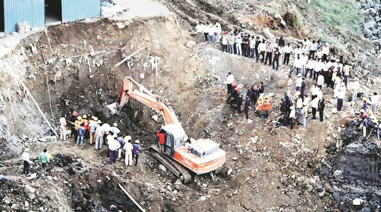 The construction site in Thane where the two workers died Friday. Deepak Joshi