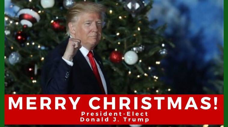All we want for Christmas is YOU to resign': Donald Trump's ...