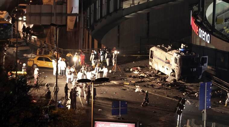 Turkey blast, turkey twin blast, turkey blast outside stadium, kurdish militants, PKK, TAK, Besiktas stadium, Turkey political crisis, Turkey president Erdgonan, world news, indian express news