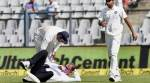 Umpire taken to hospital after hit by Bhuvi throw
