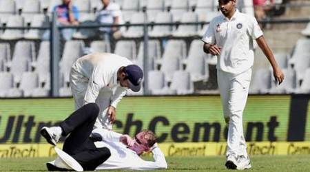 Umpire taken to hospital after being hit by Bhuvi throw