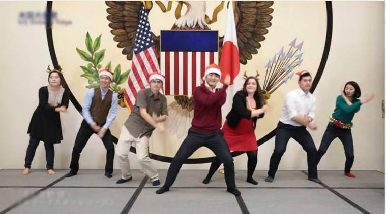 japan, usa, us embassy in japan, japan Koi Dance, us embassy staff koi dance, koi dance viral video, japan news, viral news, viral videos, trending news, latest news, indian express