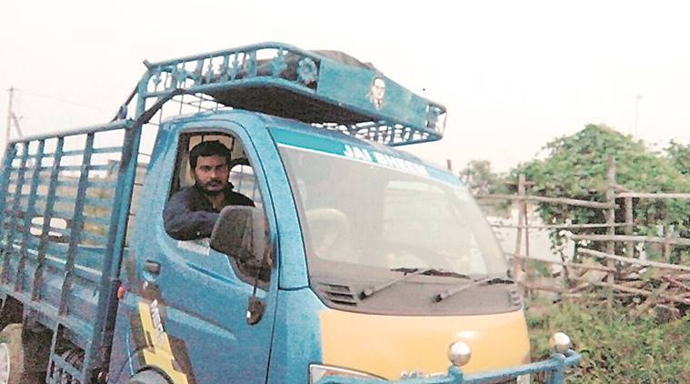 'I deliver vegetables to places on the outskirts of Guntur from morning to evening. I make Rs 400-450 per day.'  Express photo