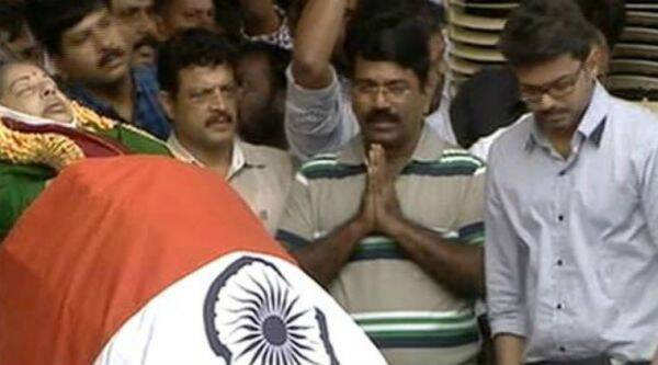 Actor Vijay at Rajaji Hall in Chennai. (screen grab)