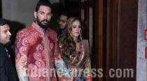 Yuvraj Singh-Hazel Keech Delhi reception: The newly-weds look regal in JJ Valaya couture