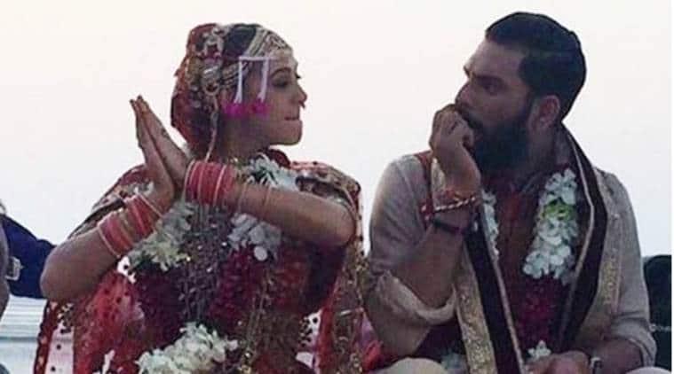 Yuvraj Singh and Hazel Keech at the venue of their Goa wedding. (Source: Instagram/Ashley Rebello)