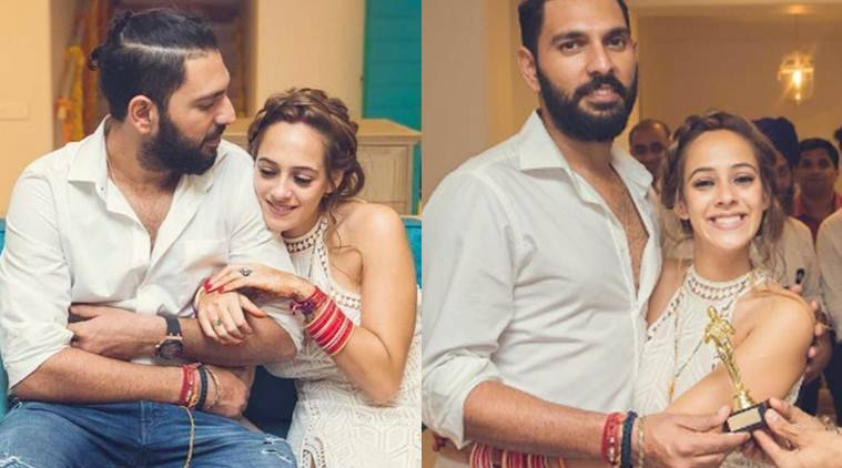 Yuvraj Singh, Hazel Keech, Yuvraj Hazel first pics, Yuvraj Hazel first married pics, Yuvraj Hazel wedding video