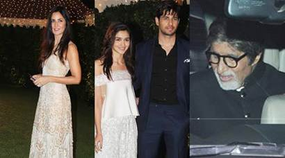 Amitabh Bachchan, Alia-Sidharth, Katrina Kaif and others at Ronnie Screwvala's daughter wedding reception