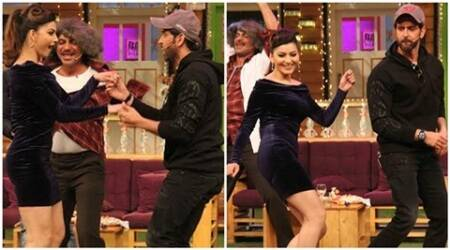 On The Kapil Sharma Show, Hrithik Roshan and Urvashi Rautela's dance is a hoot. See pics