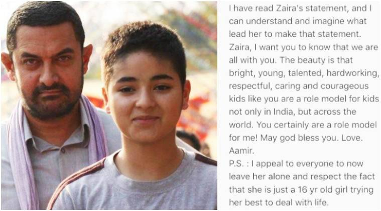 Aamir Khan on Zaira Wasim's apology: 'I can imagine what led her to make the statement'