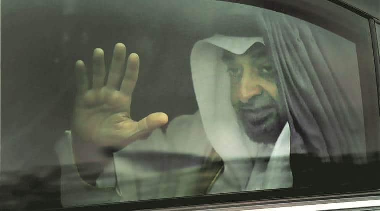 Crown Prince of Abu Dhabi Sheikh Mohammed bin Zayed Al Nahyan in New Delhi on Tuesday. PTI