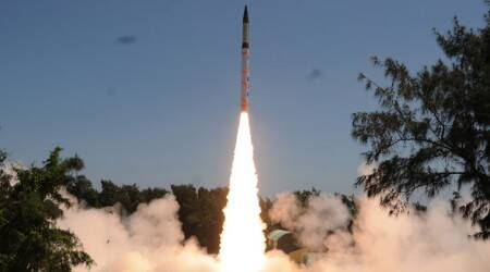 Agni-V missile successfully test-fired