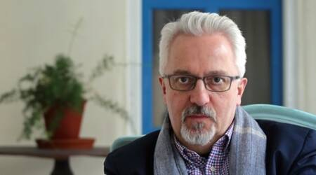 Alan Hollinghurst, Writer. Express photo by Oinam Anand