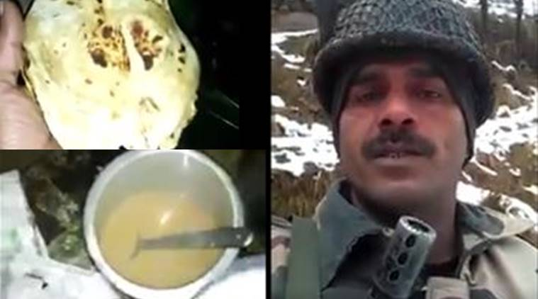 BSF jawan, BSF jawan video, BSf food, BSF Jawan food, BSF jawan viral, BSF viral video, Tej Bahadur Yadav, india news, indian express news