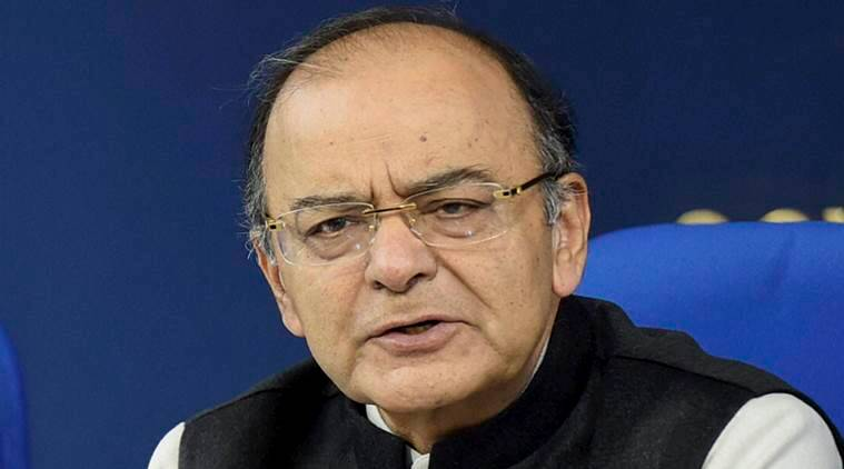 New Delhi: Finance Minister Arun Jaitley addresses a press conference after cabinet meeting in New Delhi on Wednesday. PTI Photo by Kamal Singh(PTI1_18_2017_000103B)