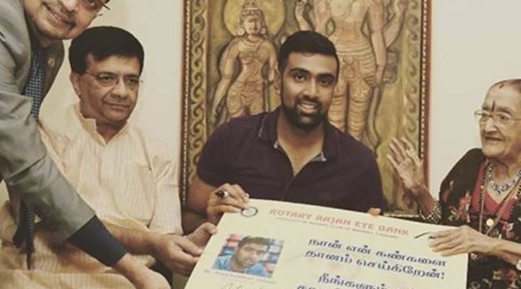 ravichandran ashwin, ashwin, r ashwin, ashwin eyes, ashwin eye donation, ashwin foundation, ashwin charity, ashwin cricket academy, india vs england odis, cricket news, sports news