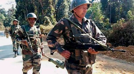 Assam Rifles, Militant attack on Assam Rifles, Assam Rifles Manipur, Assam Rifles camp Manipur, Northeast news, Indian Express