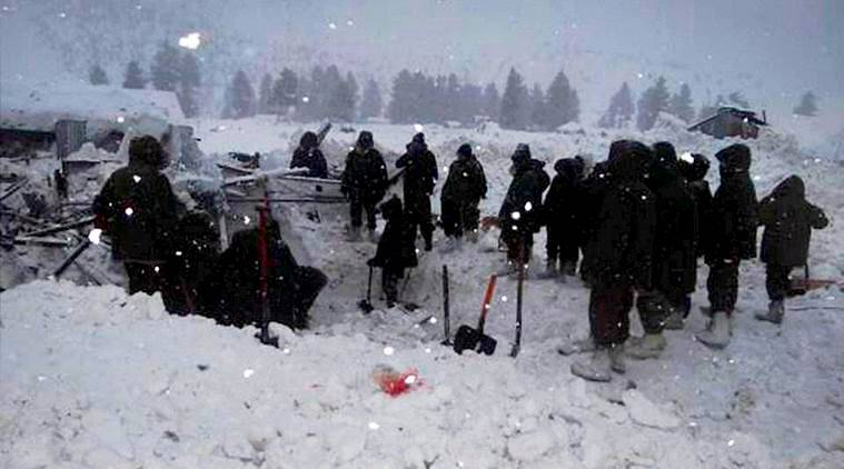 Avalanche, Avalanche in Kashmir, heavy snow, several soldiers trapped-Avalanche, Macchil avalanche, Kashmir avalanche, Jammu and Kashmir avalanche, India news, Indian Express