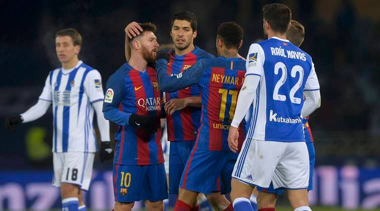 Barcelona break curse at Anoeta, beat Real Sociedad in ...