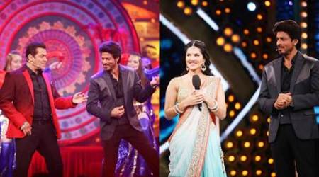 bigg boss 10, bigg boss, shah rukh khan bigg boss 10, shahrukh khan bigg boss 10, sunny leone shah rukh bigg boss 10, sunny leone bigg boss 10, salman shah rukh dance bigg boss, bigg boss 10 shah rukh sunny, slaman khan shah rukh khan bigg boss 10, shah rukh khan salman khan bigg boss 10, shahrukh salman back together, slaman shahrukh share screen, shah rukh salman on television show, shah rukh raees promotions, shah rukh khan raees, shah rukh salman khan fun bigg boss 10, shah rukh khan bigg boss, shah rukh manveer secret task, manveer fan moment, shah rukh khan theif, shah rukh khan dance, sunny leone laila main laila, shah rukh khan salman khan dance, shah rukh khan, salman khan, bigg boss 10 news, bigg boss 10 updates, television news, television updates, entertainment news, indian express news, indian express