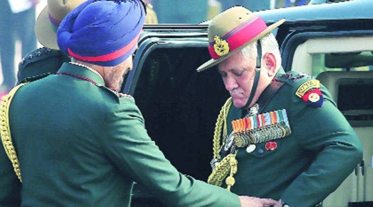 indian army, constable video, army constable video, Army Chief General, Bipin Rawat, india news, indian express