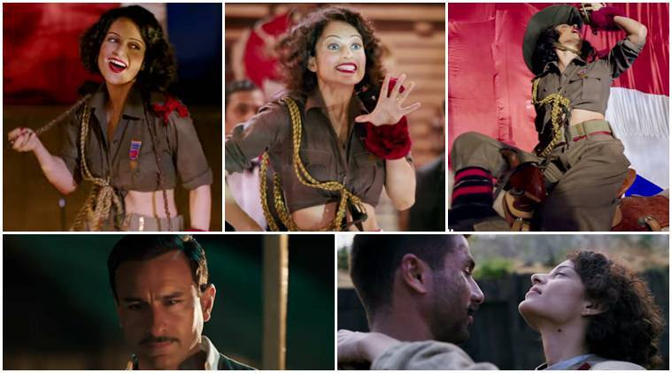 rangoon new song, bloody hell, kangana ranaut bloody hell, kangana ranaut rangoon, rangoon new song release, bloody hell rangoon, bloody hell full song, bloody hell video song, bloody hell kangana ranaut, saif ali khan new song, shahid kapoor new song, vishal bhardwaj bloody hell, bloody hell lyrics gulzar, gulzar bloody hell lyrics, kangana ranaut diva, kangana ranaut unconventional performer, kangana ranaut, rangoon, rangoon trailer, rangoon release date, shahid kapoor new movie, saif ali khan new movie, kangana ranaut upcoming movies, bollywood news, bollywood updates, entertainment news, indian express news, indian express