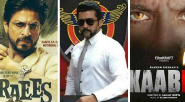 Singam 3 release postponed. Shah Rukh Khan's Raees and Hrithik Roshan's Kaabil to benefit at the box office.