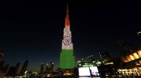 Burj Khalifa lights up in tricolour ahead of India's 68th Republic Day