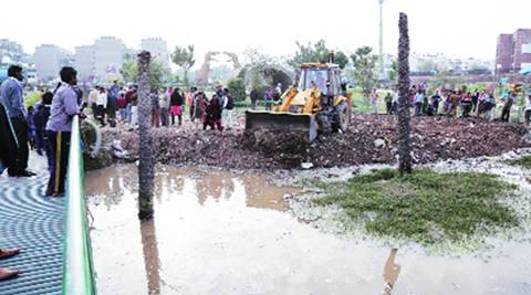 Day after drowning, Chandigarh civic body starts filling up pond in Sector 49park